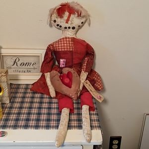 Other - Primitive Snowy Chloe Valentine's Day OOAK Doll
